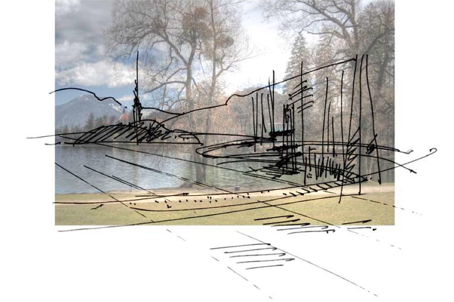 Arhitekturni biro STVAR | Veslaški center in ciljna regatna arena Zaka na Bledu