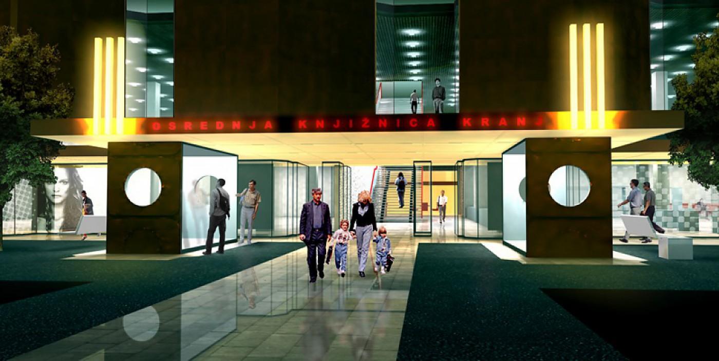 Arhitekturni biro STVAR | Globus - Osrednja knjižnica Kranj